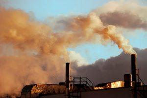 Uitstoot gassen in de industrie