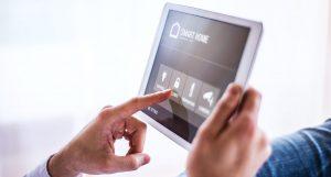 Bediening slimme verlichting via tablet