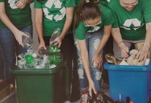 Recyclen afval scheiden