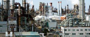 Broeikaseffect door CO2 uitstoot industrie