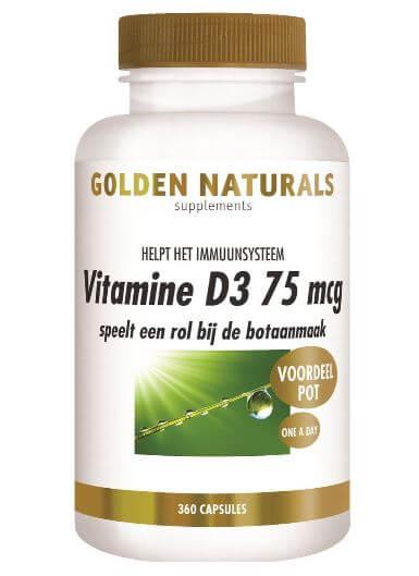 Golden Naturals Vitamine D3 75mcg