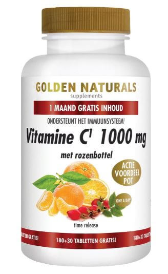 Golden Naturals Vitamine C met rozenbottel
