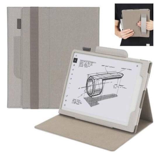 reMarkable 2 Horizontal Flip Leather Case Grijs